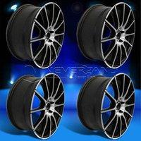 Wholesale 4PC Set for VW GOLF GTI JETTA PASSAT quot x8 quot Car Alloy Wheels Rim Matte Black W Machine Face USA Stock