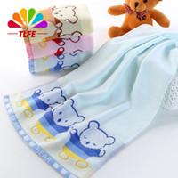 bear bathroom set - TLFE Baby Cartoon Bear Hand Towels Bathroom Brand Cotton Fabric Face Towels Sets For Adults Home Textile cm toalha FT078