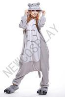 Wholesale 2016 Cosplay Totoro Kigurumi Pajama No Shoes Flannel Pajamas Hooded Conjoined Sleepwear Costumes Adult Unisex Onesie Soft Sleepwear CC34