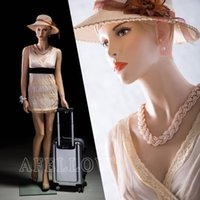 Wholesale Realistic Fiberglass Female Display Mannequin Manikin Manequin Dummy Dress Form MZ AD02