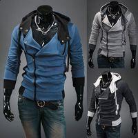 Men xxl clothes - Autumn Winter Korea Men s Fashion Slim Fit Sweatshirts Zip Hooded Jackets Fleece Sweatshirt Hoodies Coats M XXL Hoody Clothing