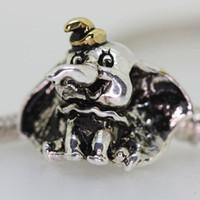 al por mayor pulsera al por mayor del elefante-¡Nuevo! Joyería al por mayor 925 de plata esterlina de oro elefante sombrero típico estilo europeo manera del grano de la serpiente de la pulsera apta Cadena