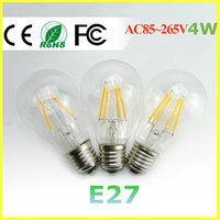 Wholesale E27 led filament bulb w w w led bulb AC100 V bulb lamp Degree lm w warm white color bulbs for home indoor kitchen AC110V AC220V