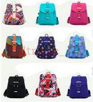 Wholesale 100PCS LJJH1162 Hot Sell Men Women s Travel bag printing portable nylon Rucksack Sport Satchel Backpack School Hiking Bags