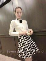 Wholesale Better skirt Autumn Winter Fashion Retro Floral Plaid Pattern Mini Bud Skirt Women s Skirt for woman