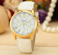 Wholesale Han edition hit the Geneva silicone watch Geneva fashion lady set auger jelly table Men and women can wear