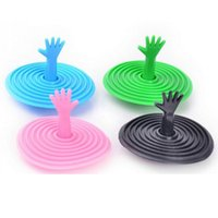 Wholesale Creative Hand Shape Sink Plug Water Plug Novetly Bathroom Product New