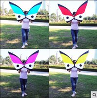 Wholesale NEW Sports Dancing Butterfly Kites Carbon Rod Nylon Fabric With Handle And Line Good Flying In Breeze