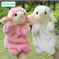 Wholesale 2015 new Children s plush toy hand puppet Small toy sheep small animal finger puppet queen doll