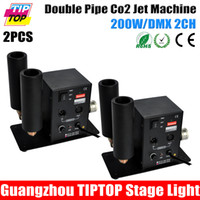 Wholesale Freeshipping Double Nozzle CO2 Jet Machine LED Stage CO2 Jet DMX High Quality V V Fogger Smoke Gun C02 Cryo C02 Jet