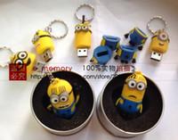 Wholesale USB flash drive real capacity Minions Despicable Me figure GB GB GB GB USB Flash Pen Drive Memory stick