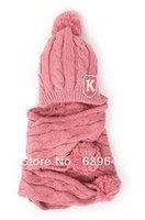 Al por mayor-sombrero y la bufanda Conjunto G G Bufanda, Sombrero de lana 2 mide el tiempo de las muchachas del sombrero rojo, rosa, sombrero amarillo y bufanda Conjunto