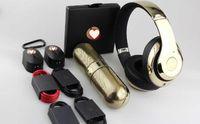 headphones beat - Limited edition gold beats New subwoofer bluetooth speaker and studio headphone EXACT COPY original quality USB TF mp3