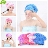magic towel - Cindy Color Hair Drying Towel Magic Lady s Hair Drying Cap Microfiber Strong Water Absorption Hair Dry Hat dandys