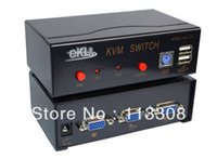 Wholesale 20pcs USB KVM Switch ports in out x1 By FedEx