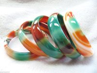 Wholesale l Chinese Rainbow Agate Bangle Smooth Bangle Inner Diameter m