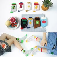 Wholesale Fashion Autumn Winter Women and Man Thick Stocking Fruit Casual Sports Socks Candy Color Free Size Mulit Color Random Or Remark
