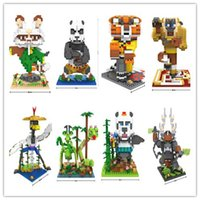 action kung fu - 8pcs Kung Fu Panda CM LOZ Blocks Diamond Building Blocks Action Figure D Bricks Toys Best Gift for Children