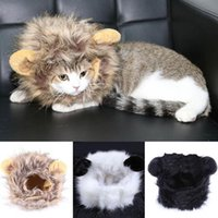 Wholesale Cute Pet Accessories Pet Costume Lion Mane Wig for Dog Cat Halloween Dress up with Ears be aware of fake products