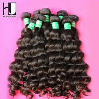 Wholesale Hair Products Brazilian Virgin Hair More Wave HJ Human Hair Weave A Virgin Brazilian Hair Bundles Mixed Length
