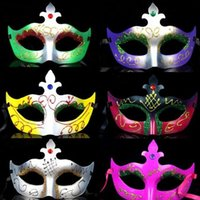 beautiful face tips - 100PCS beautiful small tip painted mask masquerade party props variety of colors mixed batch