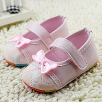 crib shoes - 0 Months Baby Girls Anti Slip Bow Shoes Soft Sole Crib Shoes Cute Prewalkers