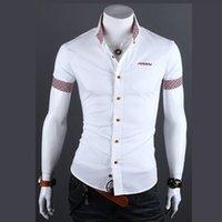 Wholesale Summer Fashion Style Mens Plaid Collar Shirts Brand High Quality Short Sleeve Shirts For Men Cotton Camisa Social Masculina