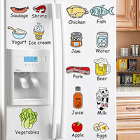 bathroom tile decoration - Kitchen Fruit Wall Sticker Decal Kitchenware Wall Tile Stickers for Kitchen Home Decorations Wall Decal Wallpaper