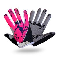 Wholesale Fashion Women Outdoor Sport Cycling Full Finger Gloves Gel Bikes Polyester Racing Bicycle Gloves Accessories Washable Cat Print