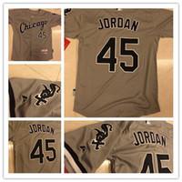Wholesale 2015 Hot Sale Michael Jordan THOMAS ABREU Baseball Jersey Chicago White Sox Jordan Grey Black White Jersey Stitched Name Lettering