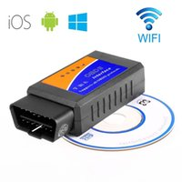 Wholesale ELM327 wifi obd2 scan tool for obdii with wireless interface Scanner on PC iPhone iPad iPod Touch