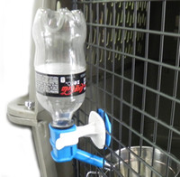 automatic cat water - Cat Dog Hanging Bottle Pet Water Drinking Head Dispenser Fountain Feeder Color Random Hold on Cage