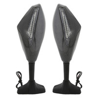 Wholesale Mirrors for Fairing Sport Bike Moto Rear Side Integrated LED Signal Carbon Look