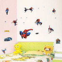 Cheap Three generations of removable wall stickers decorate the children's room classroom layout cartoon sticker Spider XY8090