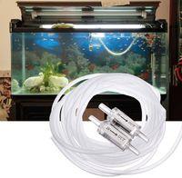 Wholesale 1PCS Hot Selling Transparent Soft Plastic M Air Pipe Check Valves for Fish Aquarium Tank Air Pump Soft Tubing Line