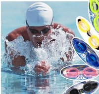 Wholesale 20pcs colors Cheap Resin Goggles Adult Women Men Antifog UVstop Swimming Suit Goggles And Ear Plugs And Nose Clips