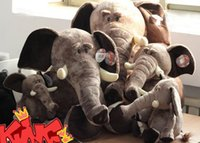 Brown plush elephant - Hot sale cm elephant plush animal toy doll baby toys with high quality