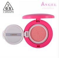 air cusion - Maquiagem Brand Makeup Colors Focus First Love Air Cusion Blush Palette Face Cheek Sleek Rouge Cream Crimson Blusher By GS