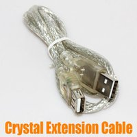 Wholesale New CM Crystal Extension Cable Male to Female USB Connecting Cable High Speed Transfer up