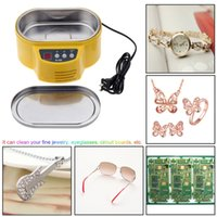 no display board - 30W W V New Professional Mini Ultrasonic Cleaner for Jewelry Glasses Circuit Board Watch CD Lens With LED Display E0721