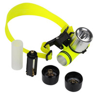 Wholesale Waterpoof Head Lantern XML T6 LED Headlamp Underwater Head Lamp Light Diving Headlight Swimming Frontal Flashlight Dive Head Light