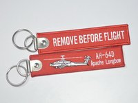 apache longbow - AH D Remove Before Flight Apache Longbow flight before the demolition of embroidery Keychain