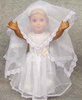 Wholesale white Wedding Handmade lovely dress clothes for inch American Girl Doll DD007