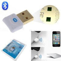 Wholesale CRS Mini Wireless Bluetooth Adapter Dongle Class Plug USB GHz Low Energy Dual Mode for Win7 Vista XP PC White