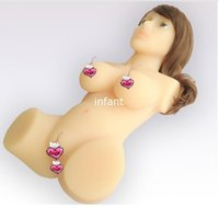 small sex doll - Metal skeleton Real Silicone SexDoll Arrival Size Lifelike Doll Men s Masturbator With Two Tunnels full silicone dolls for sex sex products
