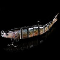Wholesale Artificial Fishing Lure Segment Swimbait Crankbait Hard Bait mm g Life like Fishing Baits Fish Lures With Hooks H14224