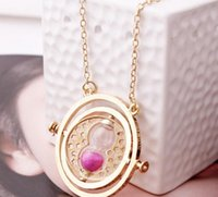 best turner - 2015 best Hot Harry Potter Time Turner Necklace Hermione Granger Rotating K Gold plated Hourglass boutique necklaces T3112