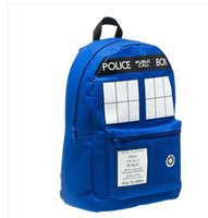 Wholesale Dr Who Tardis Backpack women Buckle Slouch Doctor Who Tardis bag women backpack School bags for teenagers children kids S0107