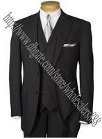 best photo vest - Custom Made Real Photo Groom Tuxedos Black Best man Suit Notch Lapel Groomsman Men Wedding Suits Bridegroom Jacket Pants Tie Vest J640