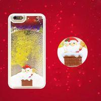 apple theme pc - For iPhone s s plus s plus Christmas Theme Santa Claus Liquid Quicksand PC Rubber Cover Case